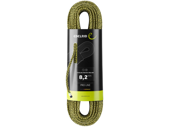 Edelrid Starling Protect Pro Dry Rope 8,2mm x 50m, yellow/night